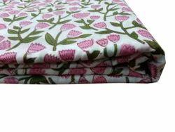 Sanganeri Block Printed  Running Material Fabric