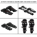 Autofy Riding Knee Elbow Guards For All Bike Riders