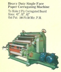 Heavy Duty Single Face Paper Corrugating Machines