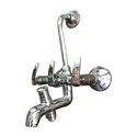 Silver And Brass And Designer Wall Mixer