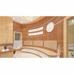 Brown Waiting Room Furniture Designing and Interior contractor