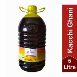 JAJAM Kachi Ghani Pure Mustard Oil 5 Ltr