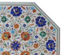 Italian White Marble Inlay Handmade Table Top
