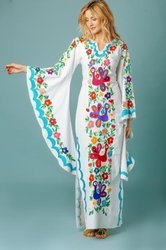 Butterfly Embroidery Kaftan