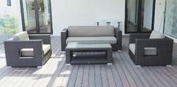 Luxury Outdoor Wicker Living Sofa Set