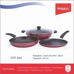 3 In 1 Combo Kadai Pan, Tawa Pan, Fry Pan (KTF 444)