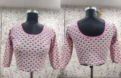 Cotton Lycra Ladies Blouse