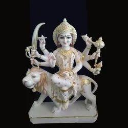 Marble Maa Sherawali Statue