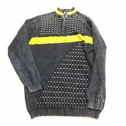 Round Neck Full Sleeves Mens Designer T Shirt