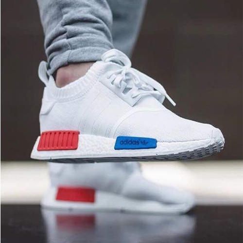 Adidas White Lace-Up Running Shoes