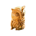 Wooden Hand Carved Owl Statue