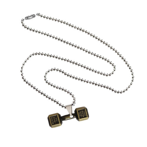women s steel with accented swarovski patno stainless womens crystals phil necklace gold dumbbell