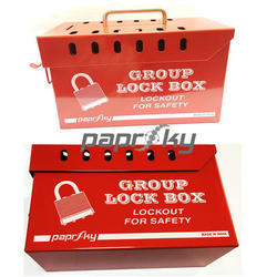 Group Lock Box - Red, For Padlocks Stotage