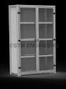 Transparent Door Cupboard Rack