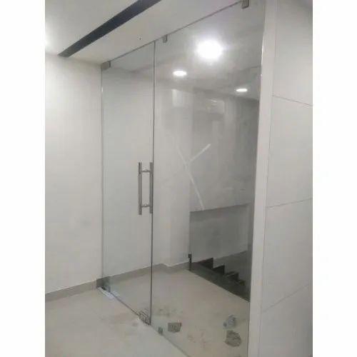 Saint Gobain 12mm Toughened Safety Glass Door Rs 400 Square Feet Shree Shiva Glass Id 21027288933