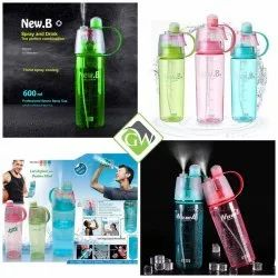 New B Spray Water Bottle 600 ml