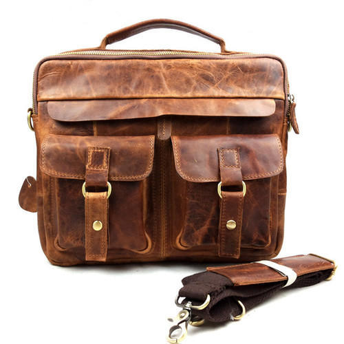 Men S Leather Work Bag At Rs 3000