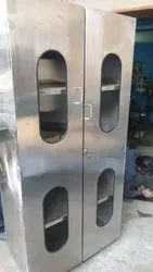 Double Door Gray Stainless Steel Cupboard, Model Name/Number: Hpe, Size: Standard