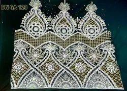 Silk Taffeta Embroidered Heavy George Wrapper
