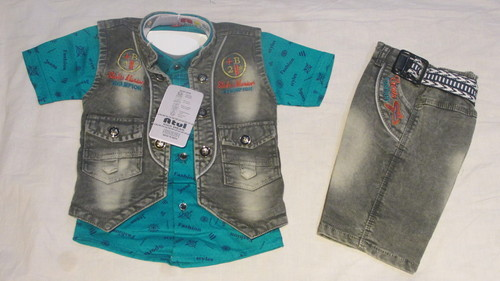 Cotton and Denim Festive and Party Wear Stylish Suit
