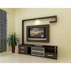 Brown Wall Mounted Designer TV Unit, for Residential, Warranty: 1 Year