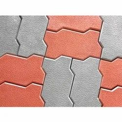 Floor Zigzag Concrete Paver Block, for Pavement, Thickness: 60 mm