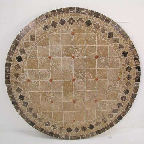 Round Travertine Stone Patio Table Top