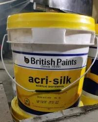 White British Paint Distemper, For Wall, Packaging Type: Bucket