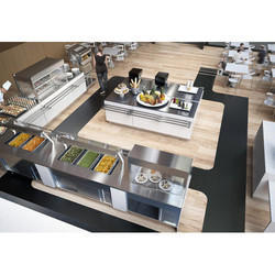 Restaurant Food Display Service Counter