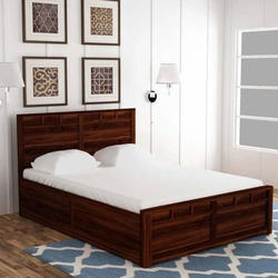 AST International Brown Rosewood Double Bed