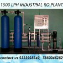 1500 Lph Industrial Ro Plant