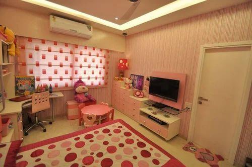 2 Bhk Flat Interior Designing Kids Room In Kapurbawdi Naka