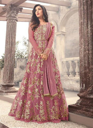 Casual wear wedding wear pink reception anarkali suits rs 3322 casual wear wedding wear pink reception anarkali suits junglespirit Choice Image