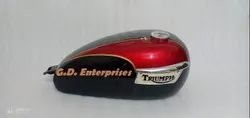 Triumph T150 Trident Cherry & Black Painted Fuel Tank With Cap Tap & Badge