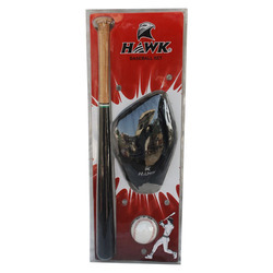 Hawk Baseball Bat, Ball & Glove Set