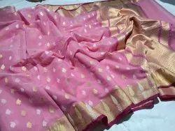 6.3 m (with blouse piece) Festive Wear Cotton Banarasi Saree