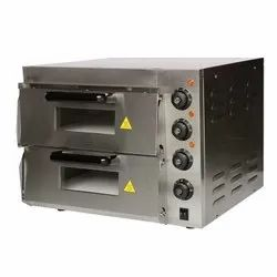 stone base double deck pizza oven