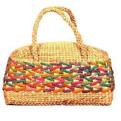 Bamboo U-Shape Handle Ladies Bag
