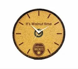 Analog Cork Wall Clock, For Anywhere, Size: 12 Inches
