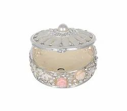 Crystal Studded Enameled Jewelry Box