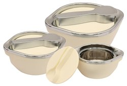 Eleganza Set Black, Set of 3 Casserole (1000 1500 2000 ml)