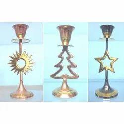 Amanat Enterprises Modern Christmas Decoration Candle Stand, Size: Upto 15 Inch