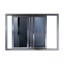 sliding office window. aluminium sliding window office