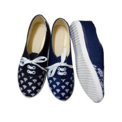 Anand Casual Wear Ladies Printed Canvas Shoes, Size: 5-11