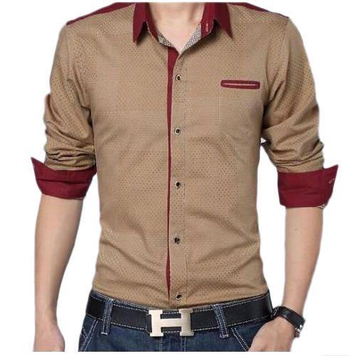 6ba28712917dc Men  s Cotton Plain Collar Neck Designer Shirt