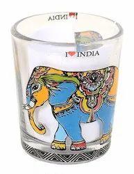 Evolution Sublimation Shot Glass Elephant ( I love India), Size: 60mL