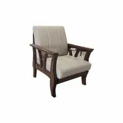 Living Woods Modern Wooden Sofa Chair, Size/Dimension: 85x81x93cm, No Of Legs: Four