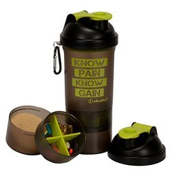 IShake Shaker Bottle, 500ml (Green)