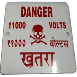 Vitreous Enabled Danger Plate