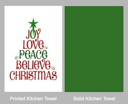 Stenciled Kitchen Towel Set